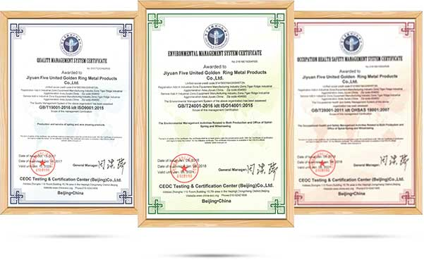 Camelway Certificates